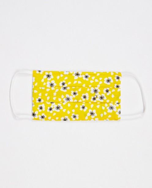 Set van 2 mondmaskers - unisex - geel met print - JBC