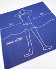 Bonneterie - Serviette de bain bleue anti-coronavirus