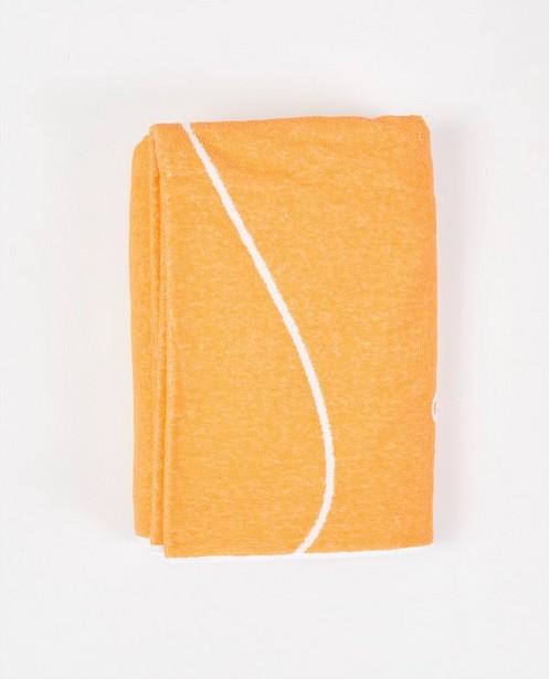 Bonneterie - Serviette de bain orange clair anti-coronavirus