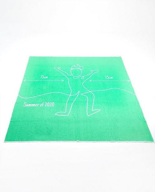 Groen corona-proof strandhandoek - jongens - JBC