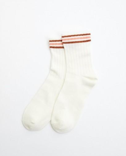 Chaussettes avec fil métallisé