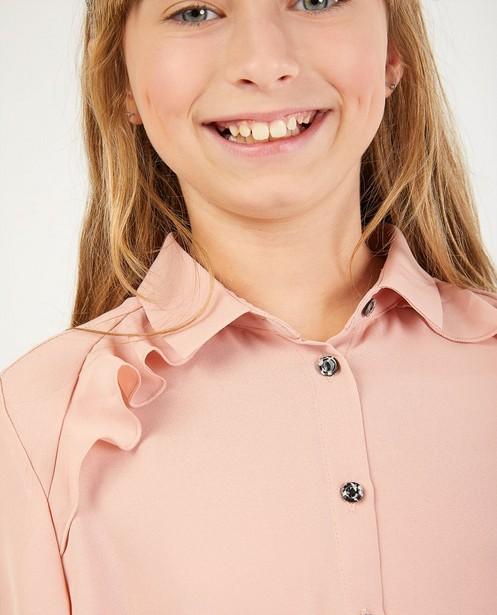 Hemden - Roze hemd met volants