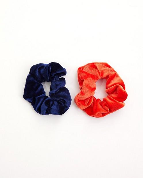 Set van 2 scrunchies - rood - blauw - jbcc