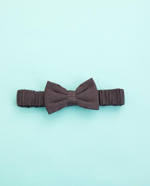 Bandeau gris foncé - avec un nœud - Cuddles and Smiles