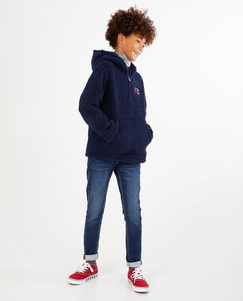 Hoodie bleu foncé Champion - avec doublure peluche - Champion