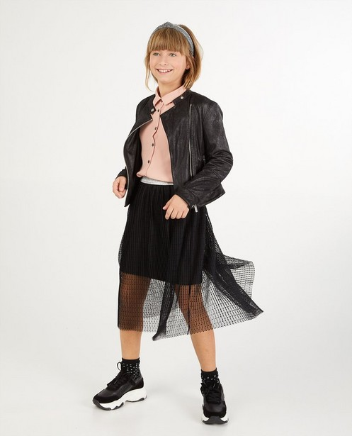 Zwarte rok met stippen - allover - Fish & Chips