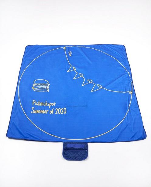 Couverture pique-nique bleue anti-coronavirus - Summer of 2020 - JBC