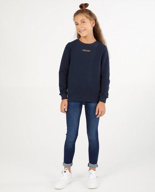 Blauwe skinny Marie, 7-14 jaar - met wassing - JBC
