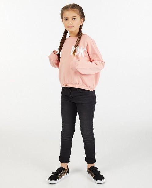 Zwarte skinny Marie, 7-14 jaar - met wassing - JBC