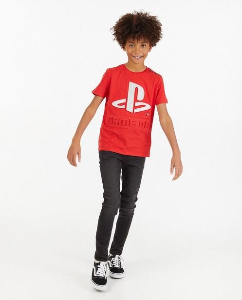 T-shirt rouge à imprimé PlayStation - effet 3D - Playstation