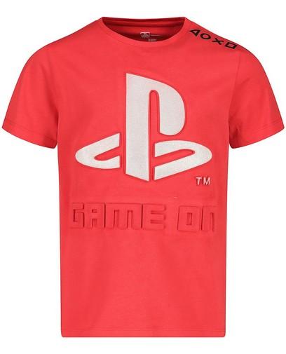 T-shirt rouge à imprimé PlayStation