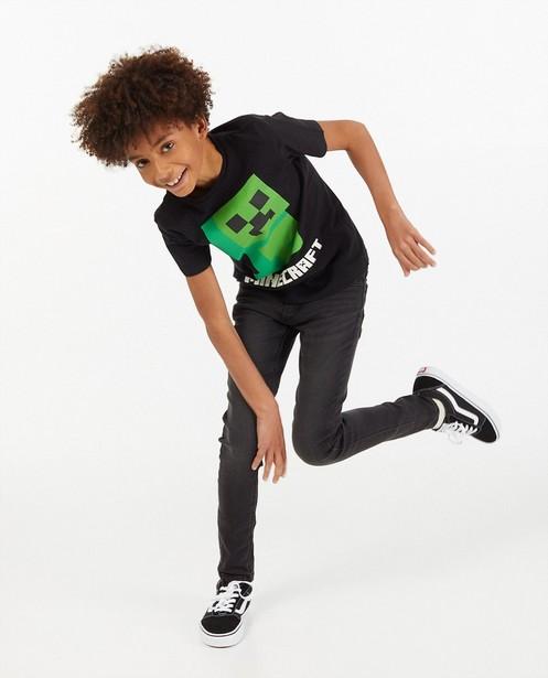 T-shirt noir à imprimé Minecraft - creeper - Minecraft