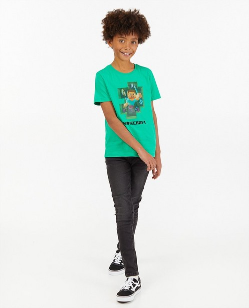 T-shirt avec un imprimé changeant Minecraft - stretch - Minecraft