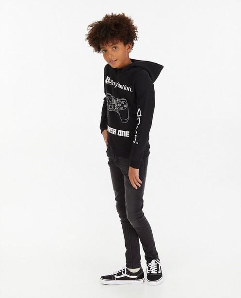 Zwarte Playstation-hoodie met print - en capuchon - Playstation