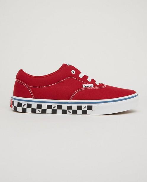 Baskets rouges Vans, pointures33-39 - semelle à carreaux - Vans