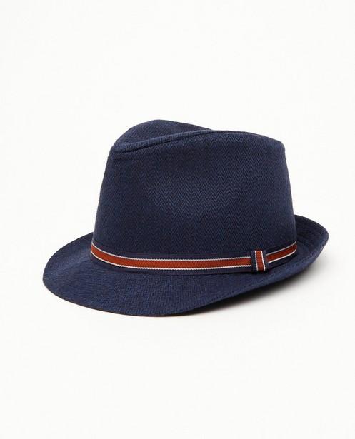 Blauwe hoed - met gestreepte band - JBC