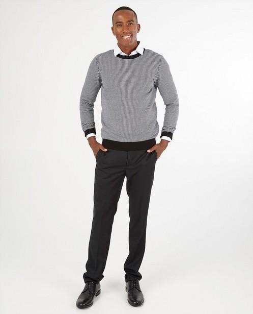 Pull blanc et noir - en tricot - Iveo