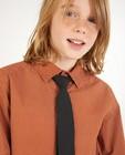 Hemden - Bruin hemd met stropdas