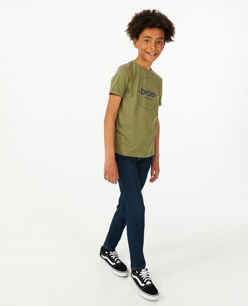 T-shirt avec une inscription (NL), 7-14 ans - en coton bio - Fish & Chips