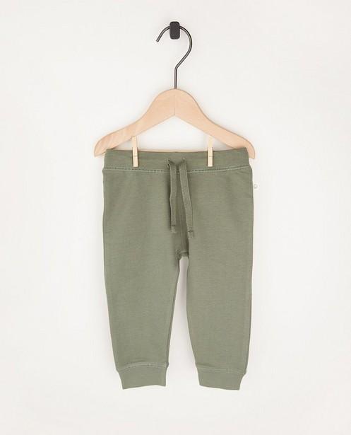 Pantalon molletonné vert en coton bio - 2 pour 14,95€ - Cuddles and Smiles