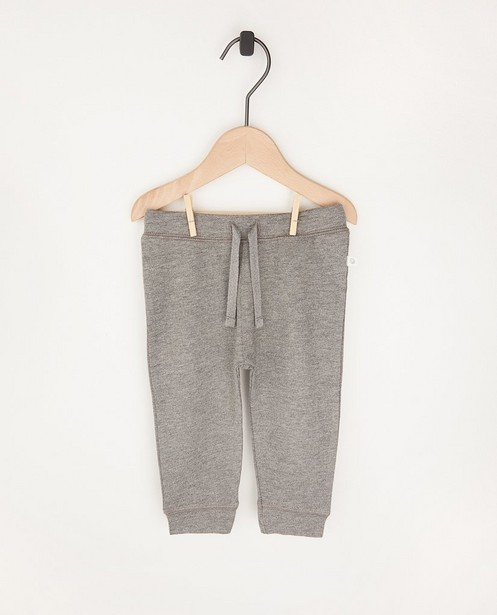 Pantalon molletonné gris en coton bio - 2 pour 14,95€ - Cuddles and Smiles