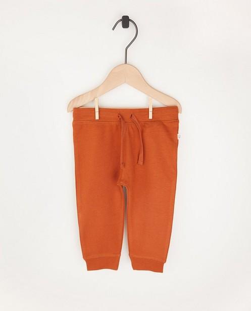 Pantalon molletonné rouille en coton bio - 2 pour 14,95€ - Cuddles and Smiles