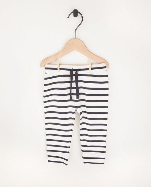 Pantalon molletonné rayé en coton bio - 2 pour 14,95€ - Cuddles and Smiles