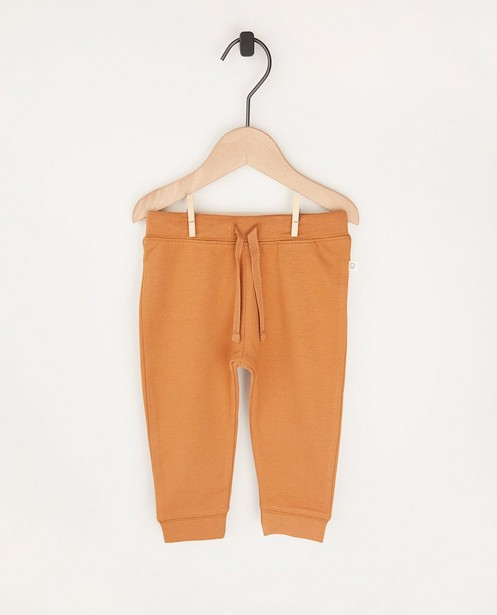Pantalon molletonné beige en coton bio - 2 pour 14,95 € - Cuddles and Smiles