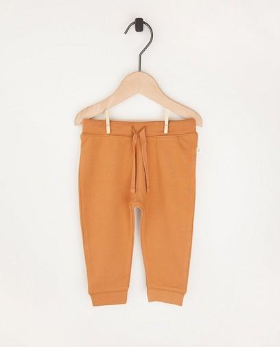 Pantalon molletonné beige en coton bio