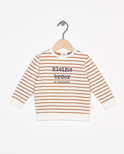 Witte sweater met opschrift (NL)