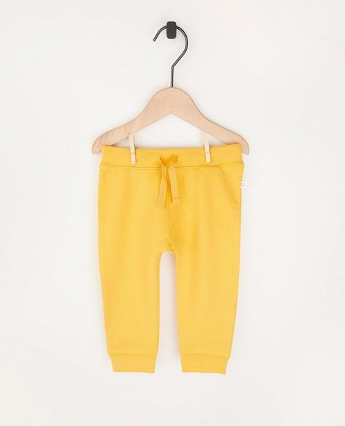 Pantalon molletonné ocre en coton bio - 2 pour 14,95€ - Cuddles and Smiles