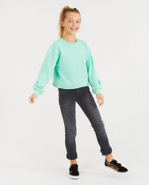 Groene sweater BESTies - cropped - Besties