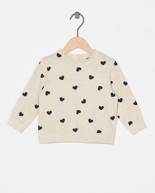 Sweater met hartjesprint BESTies - allover - Besties