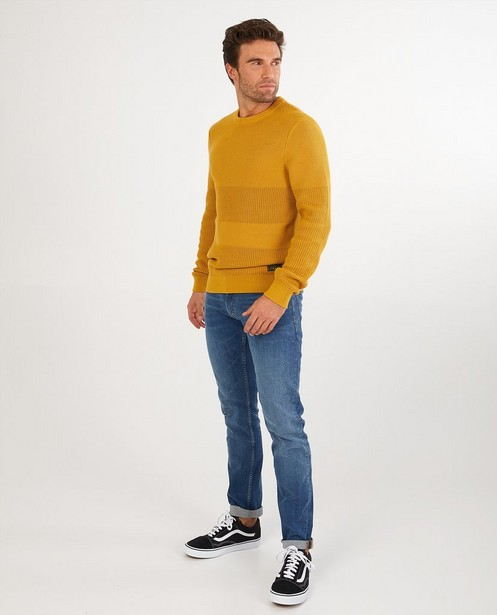 Pull ocre QS designed by - en tricot - S. Oliver