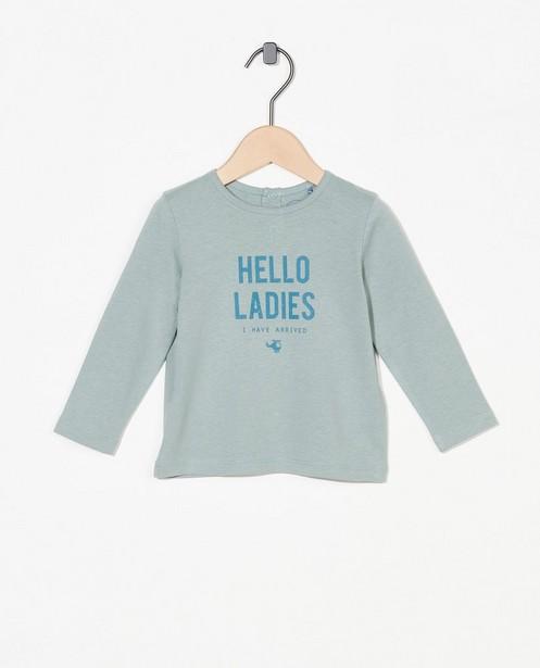 T-shirt à manches longues avec inscription BESTies - stretch - Besties
