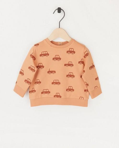 Sweat orange, imprimé BESTies - imprimé intégral - Besties
