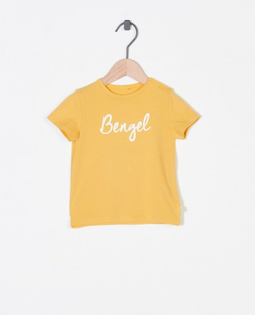 Biokatoenen T-shirt met opschrift (NL) - stretch - Cuddles and Smiles