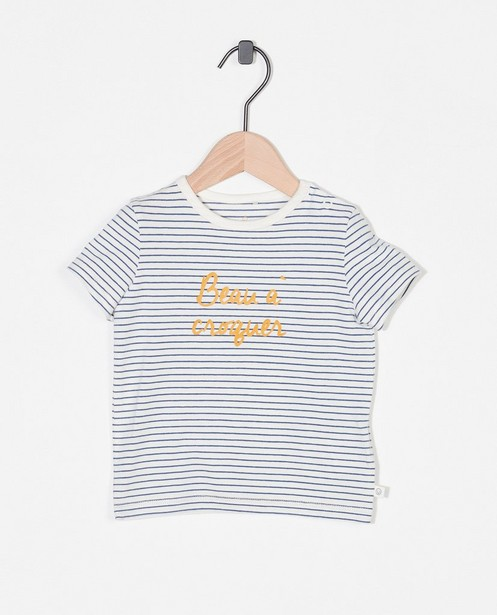 T-shirt en coton bio à inscription (FR) - stretch - Cuddles and Smiles