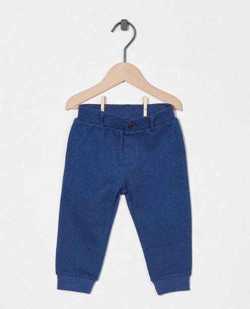 Blauwe broek met ruitpatroon - stretch - Cuddles and Smiles