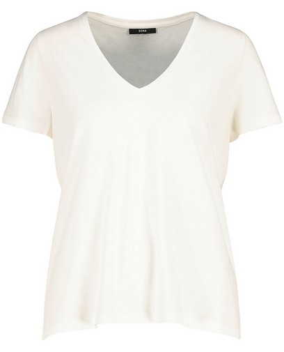 T-shirt met V-hals Sora