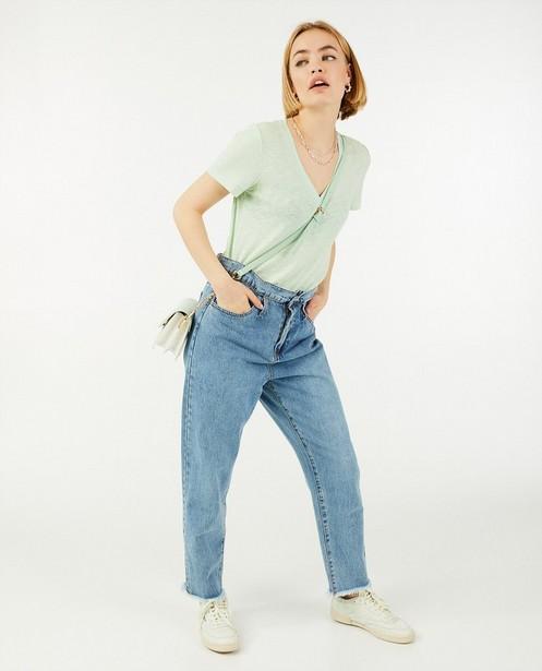 T-shirt vert menthe Sora - à paillettes - Sora