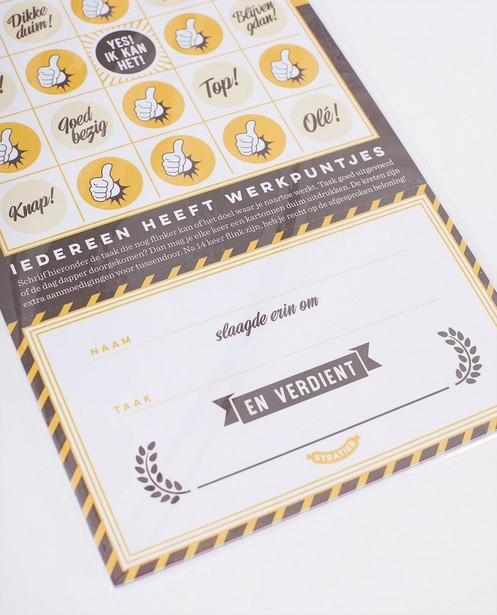 Gadgets - Lot de 5 cartes de récompense Stratier