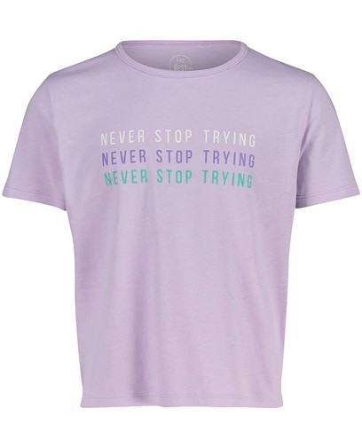 T-shirt lilas avec une inscription BESTies