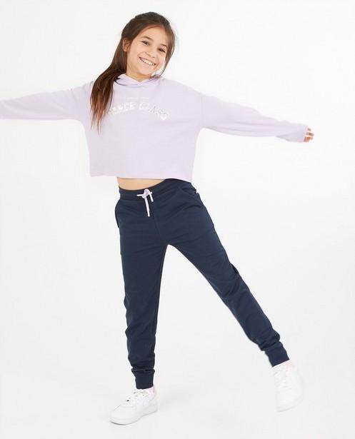 Lila hoodie met opschrift BESTies - zilverkleurig - Besties