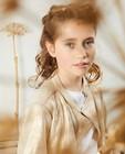 Gilet doré Communion - modèle court - Milla Star