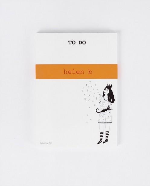 Bloc-notes To do helen b - avec illustration - JBC