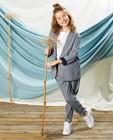 Pantalon gris à imprimé Communion - et paperbag waist - Milla Star