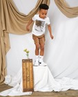Bruine bermuda met print Communie - allover - Kidz Nation