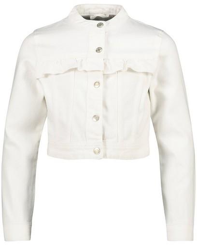 Veste en jeans blanche Communion