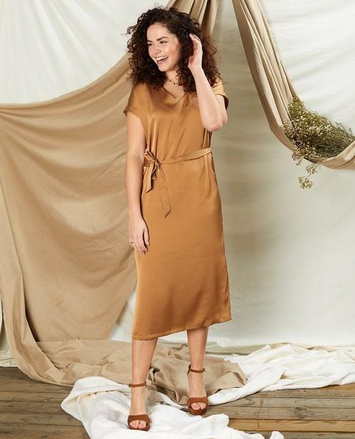 Cognackleurige jurk Sora - communie - Sora